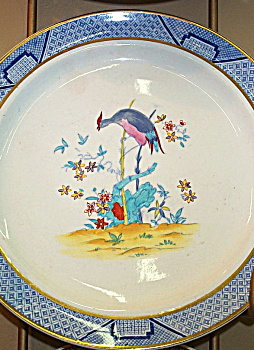 Cauldon Bird Plates - Antique C.1900 � Gold Rim. (Image1)
