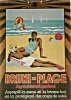 Click to view larger image of 1934 French suntan oil sign Bruni-Plage (Image2)