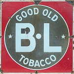 Click here to enlarge image and see more about item 1078: ANTIQUE TOBACCO ADVERTISING SIGN B L TOBACCO