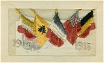 Click here to enlarge image and see more about item 1134: WWI BRITISH SILK POSTCARD 1914-1915.