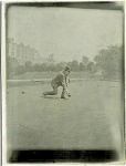 Click here to enlarge image and see more about item 1173: ANTIQUE PHOTO - LAWN BOWLING IN ENGLAND. C.1900.