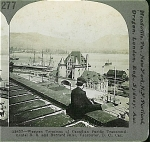 Click here to enlarge image and see more about item 1281: STEREOVIEW - VANCOUVER, WESTERN TERMINUS.