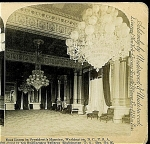 Click here to enlarge image and see more about item 1292: STEREOVIEW -  WHITE HOUSE, EAST ROOM. 1890's.