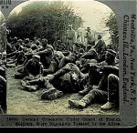 Click here to enlarge image and see more about item 1306: STEREOVIEW - WWI GERMAN PRISONERS