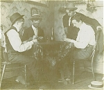 CABINET PHOTO - CARD GAME IN PROGRESS C.1890�s.