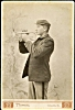 Click to view larger image of CABINET PHOTO-BUGLER IN UNIFORM - C.1880's (Image2)