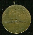 Click here to enlarge image and see more about item 4010: WWI - SMS MOLTKE - GERMAN BATTLECRUISER - MEDAL.