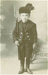 CABINET PHOTO � LITTLE SOLDIER WITH TOY RIFLE