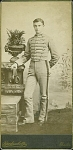 Click here to enlarge image and see more about item 4032: CABINET PHOTO � CADET IN UNIFORM 1880�s