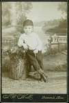 Click here to enlarge image and see more about item 4062: CABINET PHOTO – CHILD  JOCKEY-MISSISSIPPI