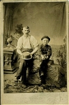 Click here to enlarge image and see more about item 4063: HUCK FINN & FATHER in CABINET PHOTO