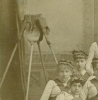 Click to view larger image of CABINET PHOTO – 1880's BROOM GIRLS - A+ (Image3)