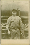 Click here to enlarge image and see more about item 4081: CABINET PHOTO � RR ENGINEER & ENGINE