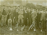 Click here to enlarge image and see more about item 4097: CABINET PHOTO � TOWN BAND � GREAT FACES