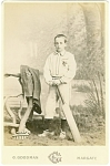 Click to view larger image of CABINET PHOTO – YOUNG CRICKET PLAYER (Image1)