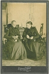 CABINET PHOTO � 1880�s GRANNIES KNITTING