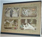 Click here to enlarge image and see more about item 4124: WWI FRENCH POSTCARDS IN ART NOUVEAU ALBUM PAGE.