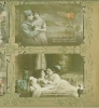Click to view larger image of WWI FRENCH POSTCARDS IN ART NOUVEAU ALBUM PAGE. (Image2)
