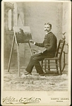 Click to view larger image of Cabinet Photo – Artist & Landscape Painting (Image1)