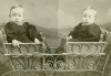 Click to view larger image of Cabinet Photo – Twins in Wicker Stroller (Image2)
