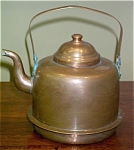 Click here to enlarge image and see more about item 4161: VINTAGE COPPER TEA KETTLE