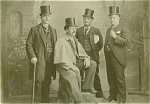 Click here to enlarge image and see more about item 4192: ANTIQUE PHOTO - THE TOPHAT GANG - 1890's - Large.