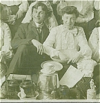Click here to enlarge image and see more about item 4195: CABINET PHOTO - AMAZING HOUSEWARES PARTY C.1900.