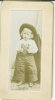 Click to view larger image of Miniature Cabinet Photos - Little Girl Front & Back. (Image2)