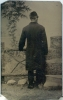 Click to view larger image of Tintype Set – Front & Back Views of Same Man. (Image3)