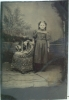 Click to view larger image of Tintype of a Girl with Her Puppy. (Image2)