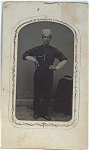 Click here to enlarge image and see more about item 4213: Tintype of a Proud Baker.