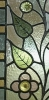 Click to view larger image of Antique Stained Glass Window in Oak Frame (Image2)