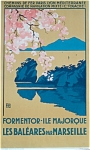 Click here to enlarge image and see more about item 4301: French Rail Majorca Travel Poster 1920's ALO