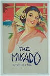 Vintage Poster THE MIKADO or, The Town of Titipu C.1920