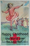 Click here to enlarge image and see more about item 4308: Vintage Poster JUNIOR RED CROSS WWI HAPPY CHILDHOOD