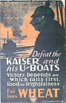 Click to view larger image of Vintage WWI Poster DEFEAT THE KAISER and HIS U-BOATS (Image1)