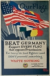 Click to view larger image of WWI Vintage Poster AGAINST PRUSSIANISM by TREIDLER. (Image1)