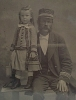 Click to view larger image of Tintype of Steamboat Captain and Daughter. (Image2)