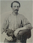 Click here to enlarge image and see more about item 4335: Tintype of a Tired Working Man.