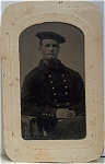 Click here to enlarge image and see more about item 4343: Tintype of U.S. Sailor - Civil War or shortly after.