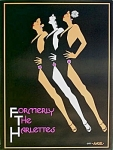 Click here to enlarge image and see more about item 4349: Vintage Poster FORMERLY THE HARLETTES from 1977