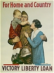 WWI Original Poster FOR HOME AND COUNTRY 1918.