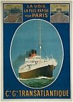 Click to view larger image of Original poster CGT French Line  ESPAGNE –C.1920s (Image1)