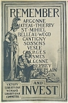Click to view larger image of WWI Original Poster REMEMBER ARGONNE, CHATEAU-THIERRY (Image1)