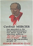 Click here to enlarge image and see more about item 4379: WWI poster 1918 CARDINAL MERCIER Food Appeal