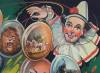 Click to view larger image of Vintage Circus Poster C.1930 Clown with Balloons (Image3)