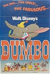 1972 Disney DUMBO Movie Poster