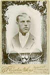 Click here to enlarge image and see more about item 4410: CABINET PHOTO – 1890'S TENNIS PLAYER.