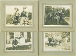 CABINET PHOTO – 4 GREAT PHOTOS of FARM FAMILY 1800's.
