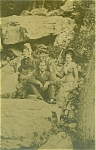 Click here to enlarge image and see more about item 4425: ANTIQUE PHOTO � WEST VIRGINIA ROCK CLIMBERS.